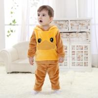 Quality Brand baby clothes 2014 autumn outfit new flannel panda suits (0-3 Year) for sale