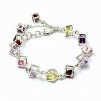 Quality Silver/Brass Charm Bracelet, Customized Designs Accepted for sale