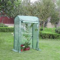 China Vegetables  Garden Greenhouse , Compact Grow House Roll Up Door Design on sale