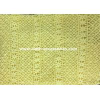 Quality 50 Yellow Polyester Guipure Lace Trim Crochet For Clothes Accessories for sale
