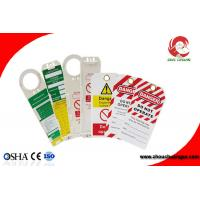 Quality OEM Custom Made Safety Plastic Label Tags Lockout PVC Tags and Warning Signs for sale
