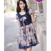 Quality New Style Jean Chiffon Girl's Dress (1289-085) for sale