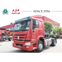 Quality 4X2 6 Wheeler HOWO Tractor Truck Large Payload For Container Transport for sale