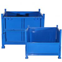 Quality 5.0mm Diameter Collapsible Wire Container , Metal Stackable Steel Pallet Box 1000kg Loading Capacity for sale