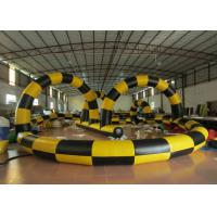China Zorb Ball Inflatable Quad Track , Customized Kids Toy Cars Blow Up Race Track on sale