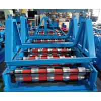 Quality Glazed Roof Panel Roll Forming Machine , Cold Forming Machine Panasonic PLC Control for sale
