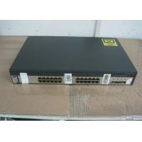 4 SFP Ports Uplink Used Cisco 3750 Switch , Second Hand