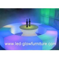 Quality Battery operated full RGB Led Bar Stool , Illuminated Nightclub Furniture Chair for sale