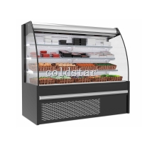 Quality Supermarket Front Open Vertical Cooler Air Curtain Food Refrigeration Display Storage Chiller for sale