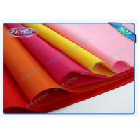 China Blue / Pink / Yellow PP Non Woven Tablecloth , Spunbond Nonwoven Fabric Flower Packing on sale