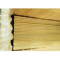China Inside Cleaned Brass Round Tubing , Steam Ejector Copper Nickel Alloy Tubing on sale