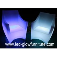 Quality Polyethylene Plastic Light up led sofa / chairs with 2200 mAh lithium battery for sale