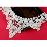 Quality Emrbroidered Cotton Collar Applique With Retro Guipure Lace Pattern Custom for sale