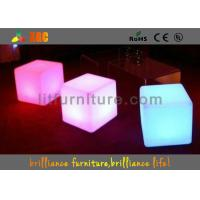 Quality PE Square LED Bar Stools With Wireless Remote Control / Nontoxic And Peculiar Smell for sale