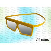 Quality Yellow Framed Linear Polarized Imax Polarized Glasses 3D MOVIES / 4D CINEMA / 3D THEATRE for sale