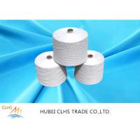 China NE 303 Polyester Yarn For Sewing Thread Raw White Bright on sale