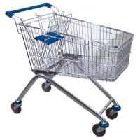 Quality 80L Custom Zinc Plated Australia Plastic Trolley One-stop Steel Supermarket Shopping Cart for sale