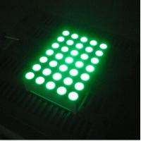 Quality Pure Green 5x7 Dot Matrix 3mm LED Lights Moving Message Signs for sale