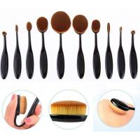 Silicone Handle Professional Makeup Brush Set OEM Logo printed