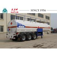 Quality 40000 Liters 3 Axles Fuel Tanker Trailer Carbon Steel Body For Wet Cargo Transport for sale