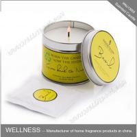 Quality Essential Oil Colorful Scented Tin Candles Handmade With Customized Fragrance for sale