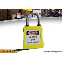 Quality OSHA Dust Proof Xenoy Padlock , Lightweight ABS Material Lockout Padlocks for sale