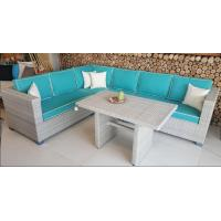 Quality 2017 Rattan Corner Sofa  Set L Shape Cushion Covered In Aluminium Frame Nice Price For Full Container for sale