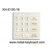 Buy cheap Rugged Waterproof Access Control Keypad , Stainless Steel Numeric 16 Key Keypad from wholesalers
