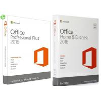 Quality Microsoft Office Pro 2016 Office 365 Product Key Card  / OEM / Retail Version for sale