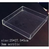 Quality Rectangle Clear Acrylic Tray 3mm acrylic service tray for sale