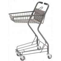 Quality Personal Shopping Carts Plastic Back Panel Swivel Wheels Shop Basket for sale
