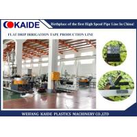 Quality 99KW Plastic Pipe Production Line / Flat Drip Irrigation Tape Making Machine 16mmx0.15mm for sale