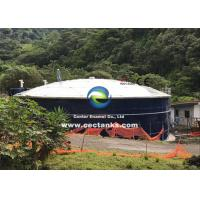 Quality Corrosion Resistant Glass Lined Water Storage Tanks With Roof 0.25 - 0.40mm Double Coating for sale