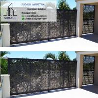 China SUDALU Outdoor PVDF Aluminum Perforated Panel Laser Cut Decorative Panel for Gate of Garden/ Garage on sale