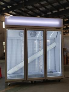 Quality 1-2-3-4 Glass Door Freezer Standing Refrigerated Showcase for sale
