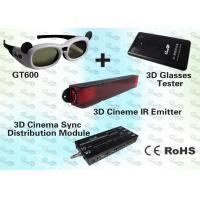 Quality 3D Cinema Solution with IR Emitter and Active Shutter 3D Glasses for sale