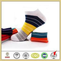 China High quality custom colorful striped cotton ankle socks for men on sale