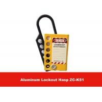 Quality Six Holes Yellow Aluminum Alloy Safety Lockout Hasp with Lable on Both Sides for sale