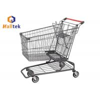 China American Design Metal Supermarket Shopping Trolley Cart For Eco - Friendly on sale