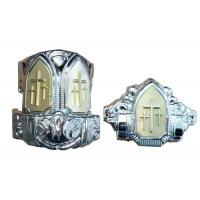 China Small Silver Plastic Casket Corners With Iron Tubes American Style on sale