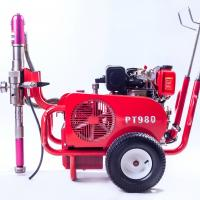 Quality Multiple Gun Diesel 9 HP Airless Paint Sprayer PT980 With Hydraulic Pump for sale