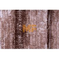 Quality Polyester Warp Knitting Striped Upholstery Fabric With Soil Release Function for sale
