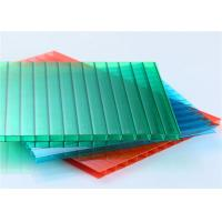 Quality 6mm Double Wall Polycarbonate Hollow Sheet Colored Polycarbonate Roof Sheet for sale
