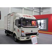 Quality Low Noise Light Duty Delivery Box Truck LHD 4X2 116HP ZZ1087D3614C180 for sale