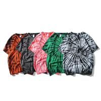 Quality Anti Wrinkle Casual Oversized Tie Dye T Shirt 100% Cotton Jersey Fabric for sale