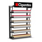 Quality Modern Wide Cigarette Display Shelf Cigarette Storage Cabinet Fully Welded for sale