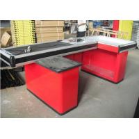 Quality Retail Store Electronic Conveyor Belt Checkout Counter Customized Design for sale