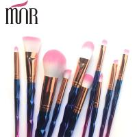Buy cheap Copper Ferrule Plating Rainbow Professional Makeup Brush Set Environment Friendly from Wholesalers