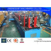 Quality PLC Control Roofing Sheet C Z Purlin Roll Forming Machine 10-15m/Min for sale