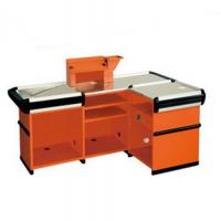 Quality Customized Orange Supermarket Checkout Counter Commercial Anti Rust for sale